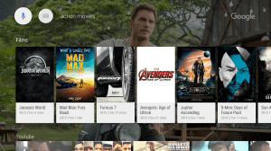 Android Google app for Android TV Screen 1