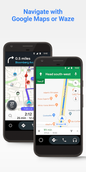 Android Auto - Google Maps, Media & Messaging 6.3.611324-release Screen 1