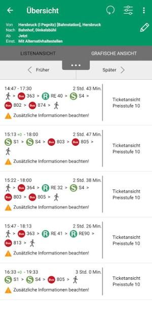 VGN Fahrplan & Tickets 5.69.19073 Screen 4
