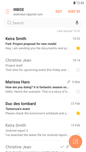 Samsung Email 4.1.89.0 Screen 1