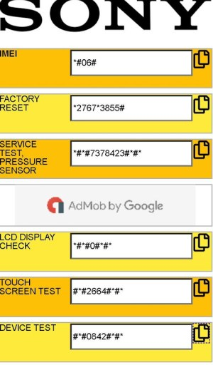 Android All Mobiles Secret Codes - Secret codes for phones Screen 3