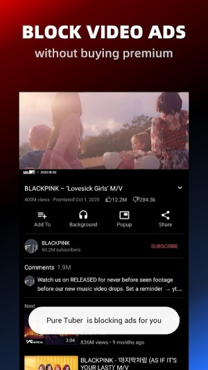 Pure Tuber - Block Ads for Video, Free Premium 2.13.6.102 Screen 5