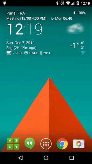 Transparent clock weather Pro 0.99.02.39 Screen 1