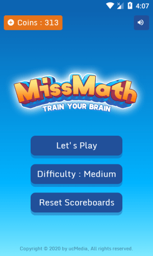 Android Miss Math : The mathematical game Screen 1