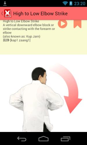 Wing Chun Glossary 3.2.0 Screen 3