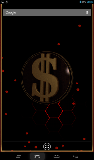 3D Dollar Sign Live Wallpaper 1.4 Screen 3