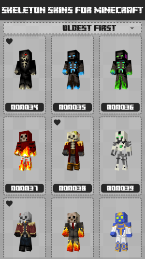 Skeleton Skins for Minecraft PE 1.0.0.119 Screen 1