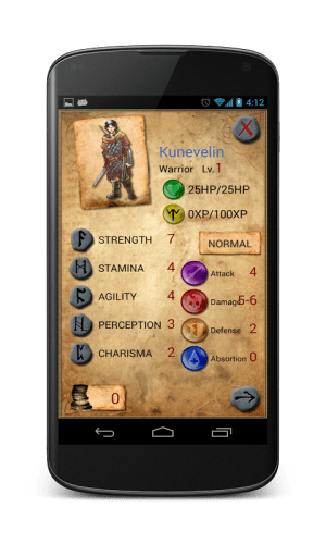 Ambar's Fate - The Gamebook 2.0.38 Screen 1