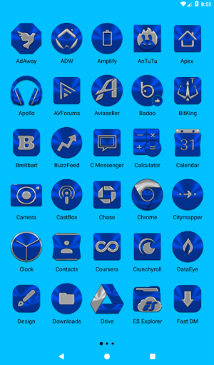 Blue Icon Pack ✨Free✨ 3.8 Screen 11