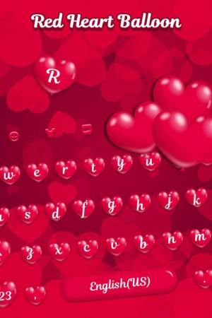 Red Heart Balloon Keyboard - Sweet Heart 1.0 Screen 2