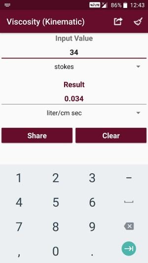 Android Fluid Mechanics Converter Screen 4