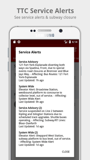 My TTC - Toronto Transit Bus, Subway Tracker 2.6 Screen 6