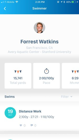 Swim.com Swim Workouts, Tracking, Log & Analysis 2.3.10 Screen 1