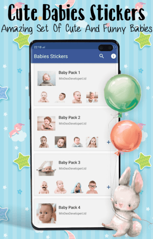 👶 Babies Stickers for WhatsApp 2021 1.8 Screen 2