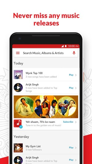 Android Wynk Music - Download & Play Songs, MP3, HelloTune Screen 3