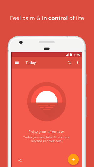 Todoist: To-do lists for task management & errands 13.4.2 Screen 1