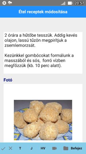 Android Étel Recept Nyilvántartó Screen 3