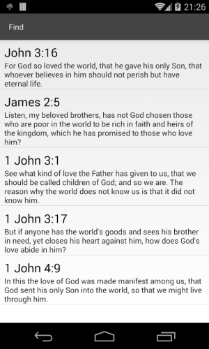 Android Bible Study app, by And Bible Open Source Project Screen 3