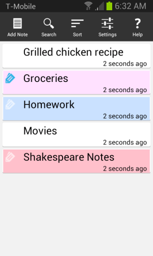 Android Ultimate Notepad - #1 Notes App with Cloud Sync Screen 2