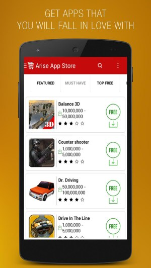 Android Arise App Store Screen 1