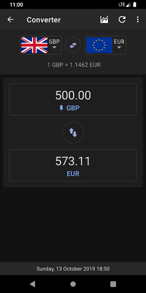 Exchange Rates - Currency Converter 2.6.5 Screen 2