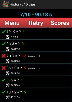 Mental Arithmetic 9.1 Screen 1
