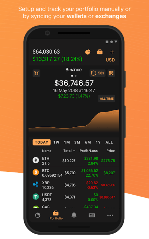 Android Coin Stats - Crypto portfolio tracker Screen 1