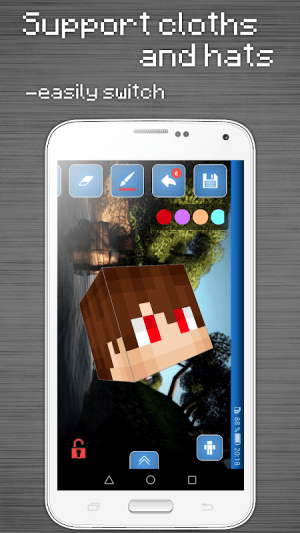 Skins Editor for Minecraft PE (3D) 2.9.1 Screen 4