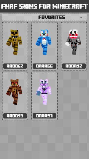 FNAF Skins for Minecraft PE 1.1.0.005 Screen 3