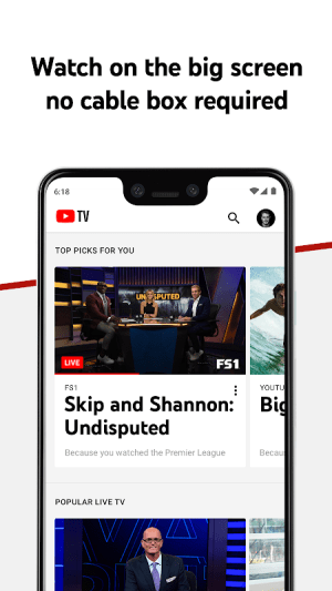 Android YouTube TV - Watch & Record Live TV Screen 5