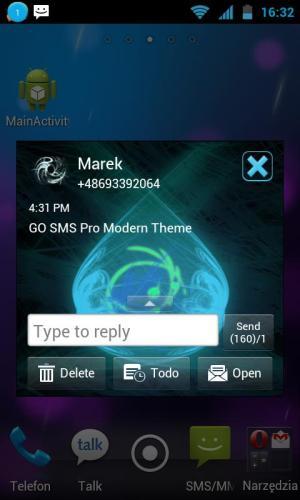 GO SMS Pro Modern Theme 1.2 Screen 1