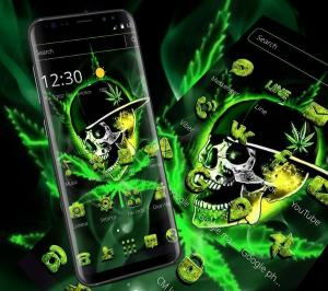 Green Weed Skull Theme 1.1.7 Screen 3