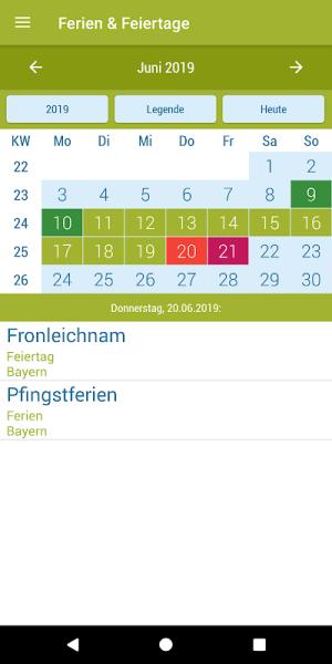 Deutsche Feiertage & Ferien 37.0 Screen 10
