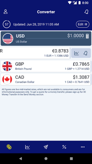 XE Currency Converter Pro 5.1.0 Screen 4