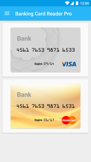 Pro Credit Card Reader NFC 4.2.5 Screen 1