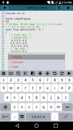 Mobile C [ C/C++ Compiler ] 2.5.1 Screen 2