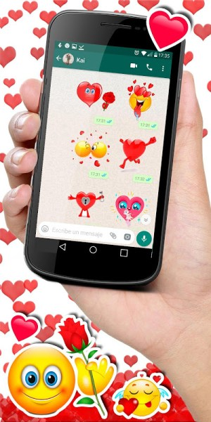 Android 💕😍 WAStickerApps love stickers for whatsapp Screen 3