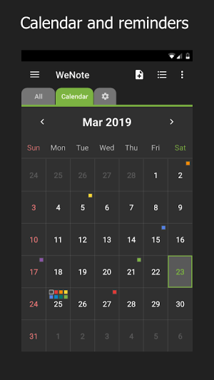 WeNote - Color Notes, To-do, Reminders & Calendar 2.02c Screen 3