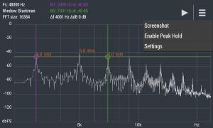Advanced Spectrum Analyzer PRO 2.1 Screen 1