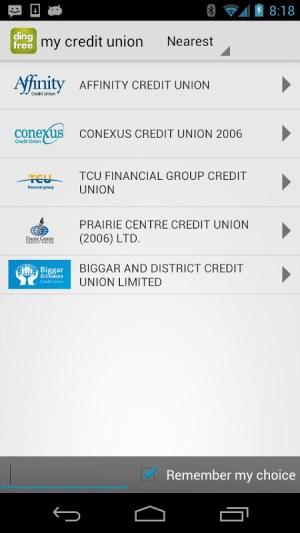 ding free ATM Locator 2.1.7 Screen 2