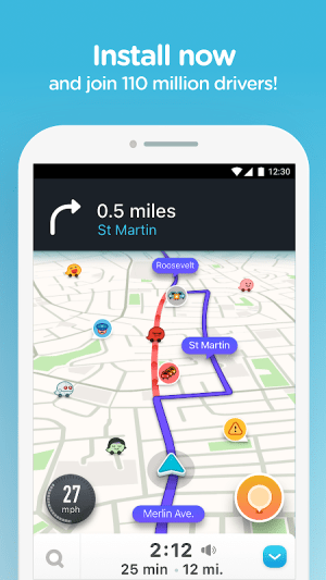 Waze - GPS, Maps, Traffic Alerts & Sat Nav 4.51.0.3 Screen 6