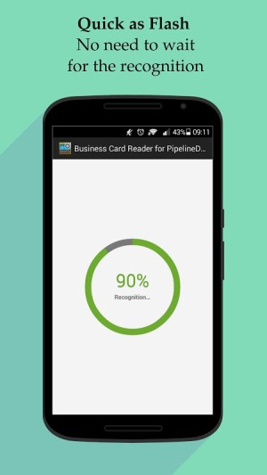 Android Business Card Reader for PipelineDeals CRM Screen 5