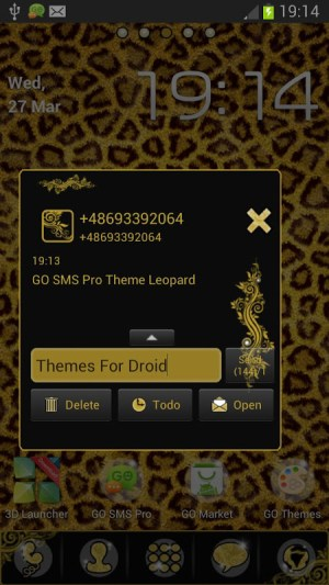 Theme Leopard for GO SMS Pro 2.0 Screen 1
