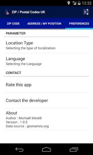 ZIP / Postal Codes UK 1.0.5 Screen 3