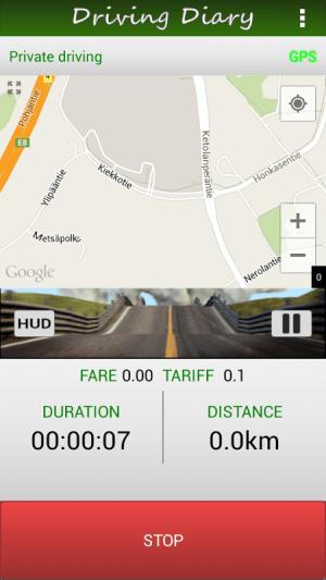 Trip PRO, Driving Diary 2.50 Screen 1