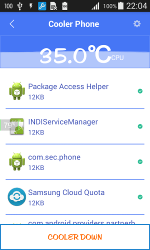 Cooler Phone for Samsung 1.0.4 Screen 2
