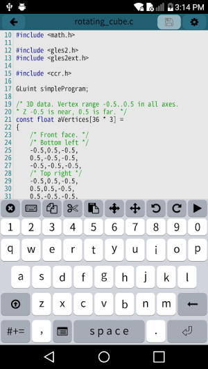 Android Mobile C [ C/C++ Compiler ] Screen 1