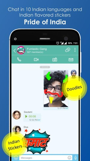 Android JioChat: Free Video Call & SMS Screen 1
