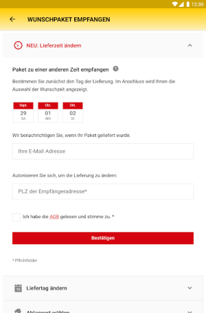 DHL Paket 2.25.1 Screen 22