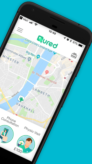 Qured: A Doctor or Physio To Your Door 2.2.45 Screen 2